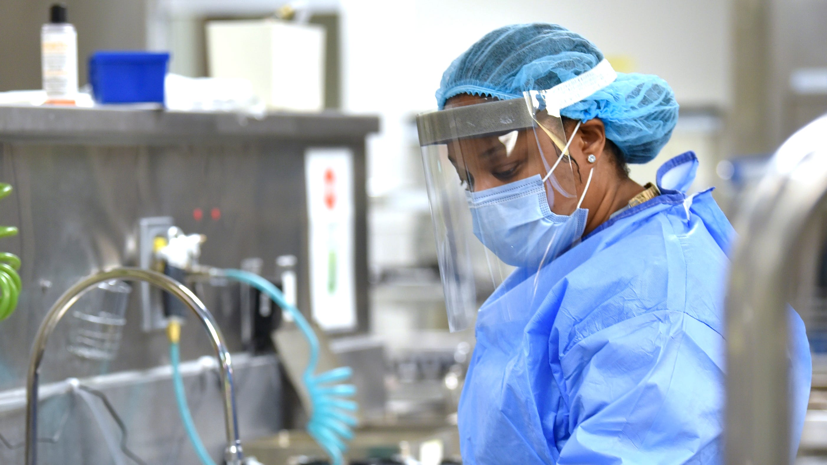 Dasha Williams, 25, of Detroit, used anew training opportunity at Beaumont Royal Oak Hospitalto advance from being a nurse assistant to a higher-paying job cleaning surgical instruments.