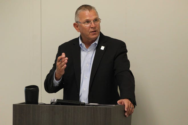 Ron Schumacher, Terra State Community College's president seen here in December 2020,  had a new three year-contract approved by the college's board Wednesday. Schumacher, who became Terra State's president in 2018, will earn $199,800 annually under the new contract, which begins July 1 and runs through June 30, 2024.