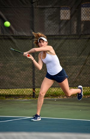 Sacred Heart senior Carrie Beckman prepares for the state tournament