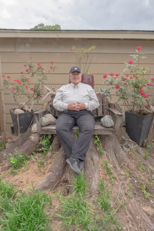 Charles London loves his home and the opportunity to garden.