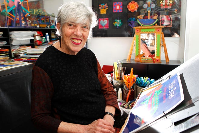 Children's author and illustrator Lois Ehlert is shown in her Milwaukee workspace in this 2011 photo.