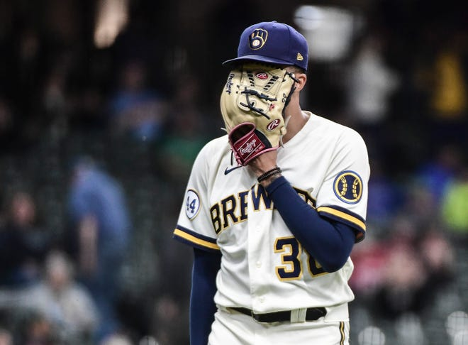 Reliever Devin Williams suffered a fractured pitching hand when he punched a wall after Brewers' clinching of the NL Central Division title Sept. 26.