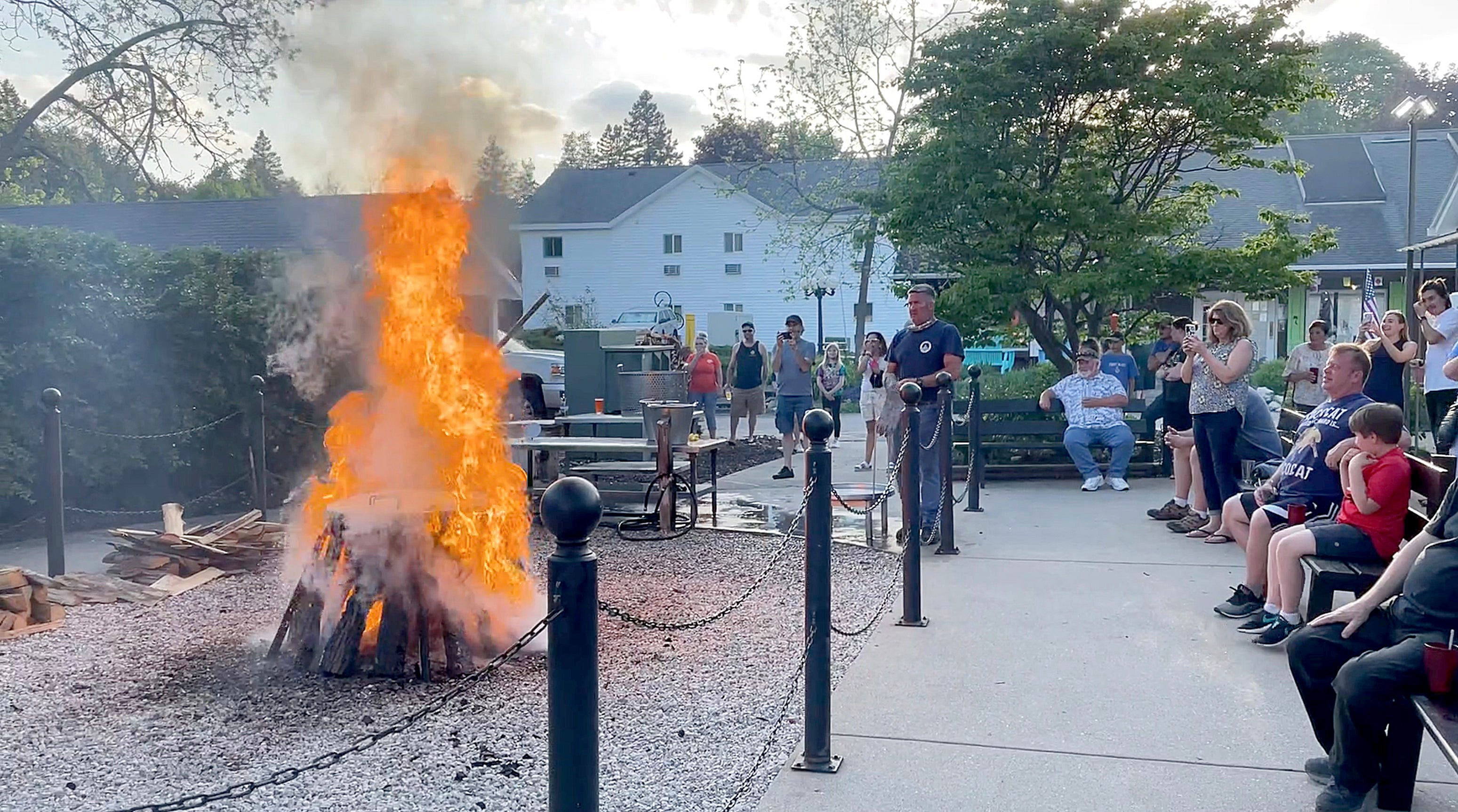 Door County Fish Boil puts on a fiery show
