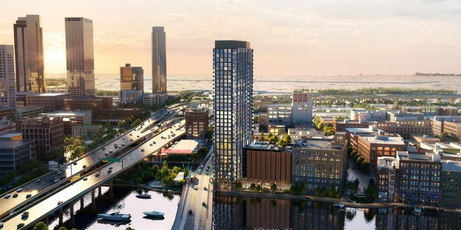 333 N. Water St. is among three apartment towers in the works for downtown Milwaukee.