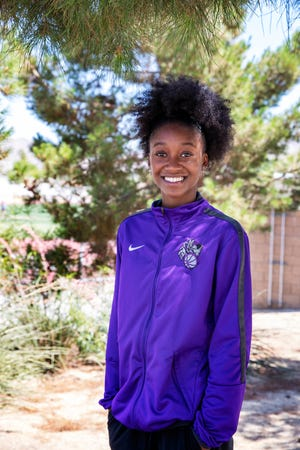 Shadow Hills High School senior Carissma Williams poses for a photo in Palm Desert, Calif., on May 25, 2021.