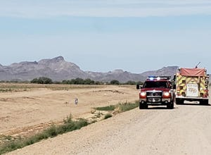 Crews from the Eloy Fire District responded to a call of an aggressive bee swarm attacking a person on May 26, 2021.