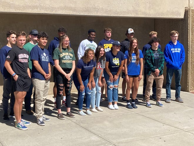 Reed had 16 students sign for college athletics in a ceremony at the school on Wednesday.
