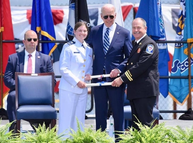 Ensign D.J. Corbett graduated with honors from the U.S. Coast Guard Academy in New London, Connecticut on May 19, 2021. She is the daughter of James and Jenny Corbett of San Angelo and a 2017 graduate of San Angelo Central High School. President Joseph Biden gave the commencement speech.
