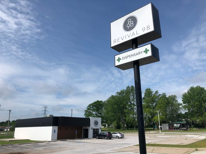 Revival 98, a Springfield dispensary linked to longtime NFL star Grant Wistrom, is shown in this May 27, 2021 photo. The dispensary is expected to open soon.