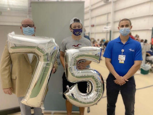 Augusta Health reached milestone of giving 75,000 COVID-19 vaccine doses.
