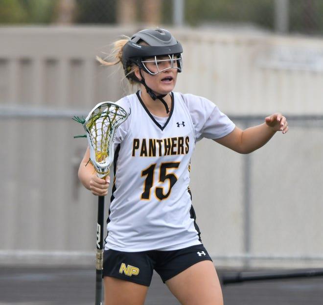 Oregon commit Emma Ing has 58 goals in her senior season for Newbury Park High girls lacrosse team.