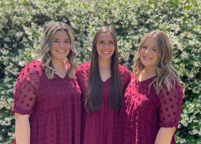 The Senior Queen, Mallory Avila, is the daughter of Joe and Diana Avila of Tulare.  She is a senior at Tulare Union High School.  Her attendants are her sister Emily Avila and her friend Mallory Mendonca.