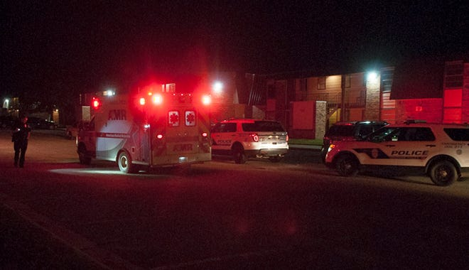 Wichita Falls police investigate a reported shooting Thursday morning.