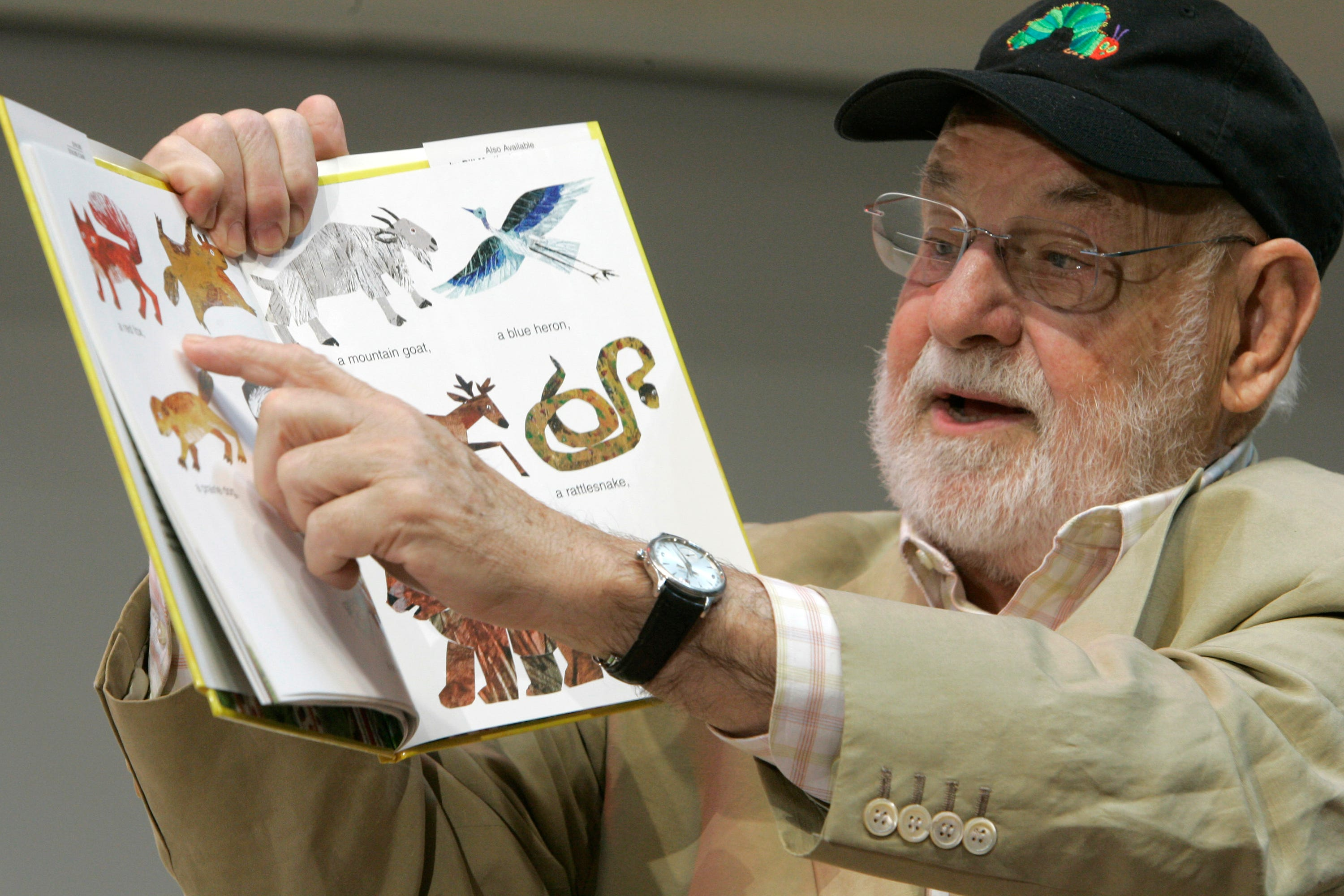 """Eric Carle reads from """"Baby Bear, Baby Bear, What Do You See?"""""""