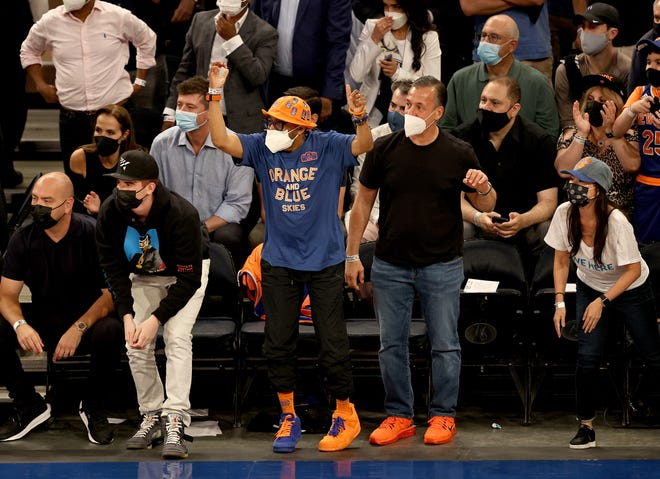 Spike Lee, director and Knicks super fan, in attendance during the first half at Madison Square Garden on May 26.