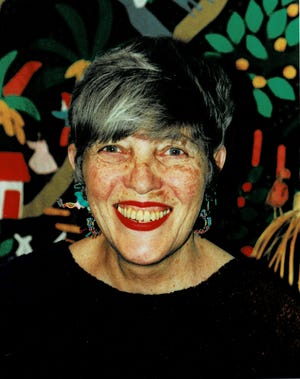 Handout photo of children's book illustrator Lois Ehlert. According to her publisher, Simon & Schuster, Lois Ehlert died of natural causes in Milwaukee, Wisconsin, on May 25, 2021, at the age of 86. Born November 9, 1934, in Beaver Dam, Wisconsin, Ehlert created numerous inventive, celebrated, and bestselling picture books, including Chicka Chicka Boom Boom.