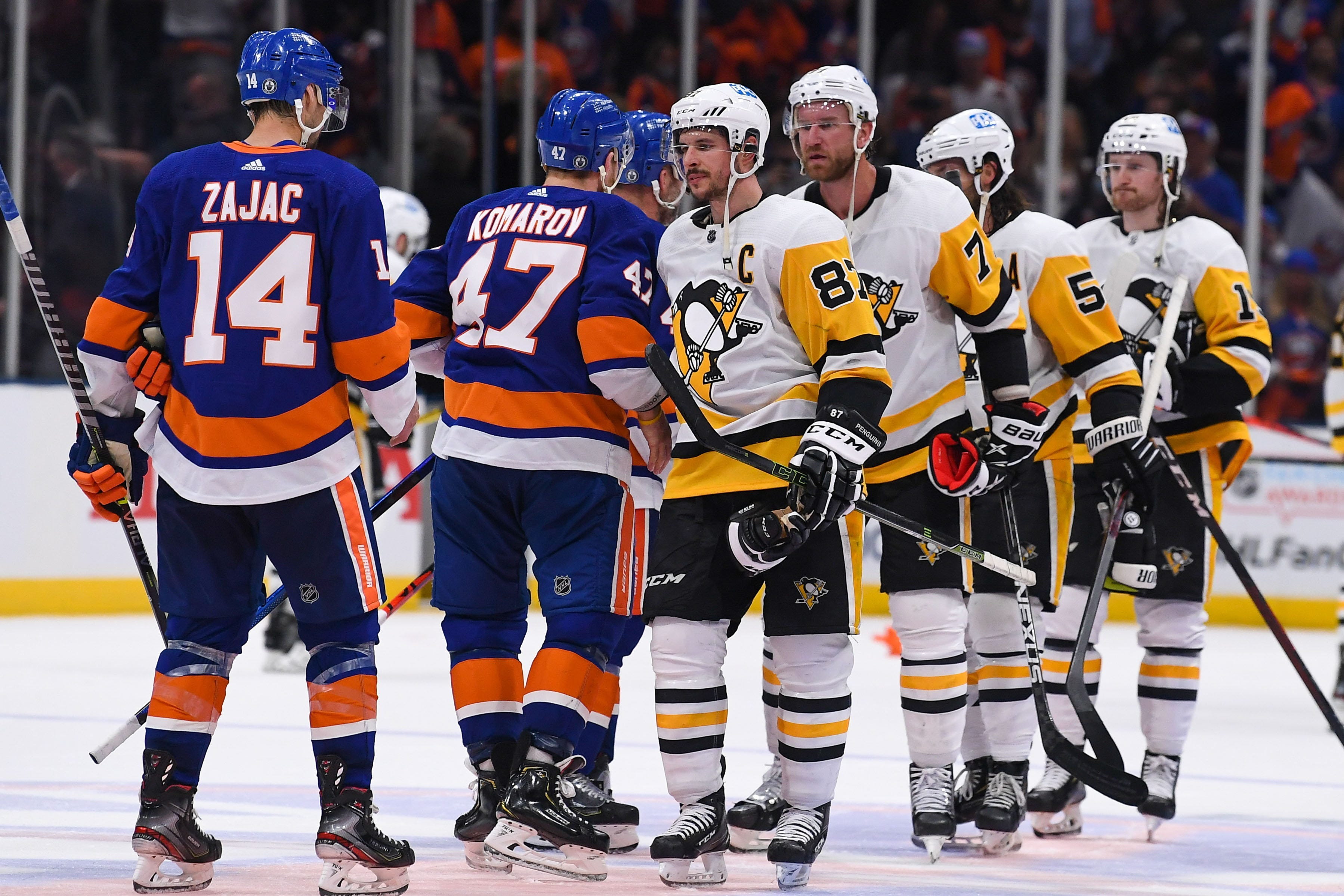 NHL playoffs: Penguins look for answers after loss to Islanders; Golden Knights lose key challenge
