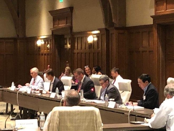 Georgia's athletic board of directors meets at the Ritz-Carlton Lodge in Greensboro, Ga., on Thursday May 27, 2021.