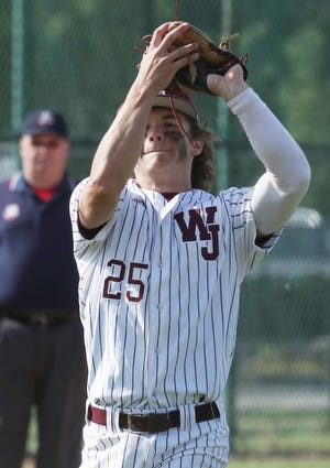 Walsh Jesuit's Joey Canzoni will continue his baseball career at the University of Cincinnati. [Mike Cardew/Beacon Journal]