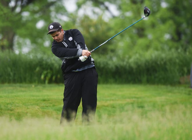 Nevada's Caden Jones placed 23rd at the Class 3A boys' state golf meet last Thursday and Friday at the Elmwood Country Club in Marshalltown.
