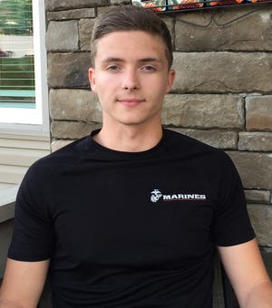 Service in the U.S. Marine Corps was a motivational force for Christian Stiltner, a young man in the local foster care system, to obtain his diploma from Cambridge High School.