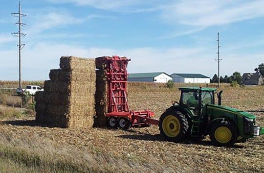 Corn stover bales.