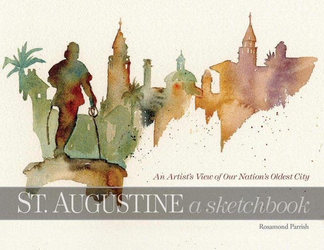 """St. Augustine's Rosamond Parrish will sign copies of her newest book of watercolors, """"St. Augustine a Sketchbook,"""" on June 4 during the city's First Friday Art Walk."""