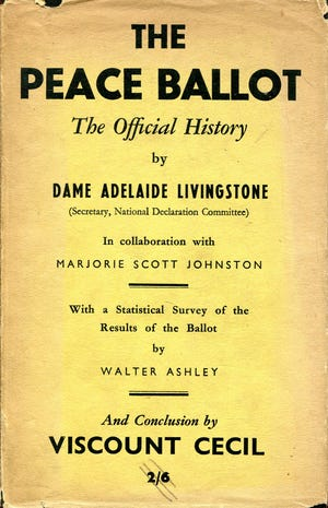"""Dame Adelaide Lord Stickney Livingstone, a Fall River native, was the chief organizer of the """"peace ballot"""" in the United Kingdom in the 1930s."""