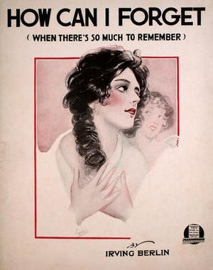 This sheet music illustration was created by Albert Barbelle, a Fall River native.