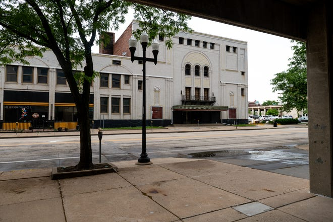 Listed on the National Register of Historic Places, the Madison Theater sits empty on Thursday, May 27, 2021. The theater has been unused since 2003 and was damaged by a fire five years ago.