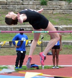 Newton senior Asha Regier took second in the high jump at the Class 5A state meet.