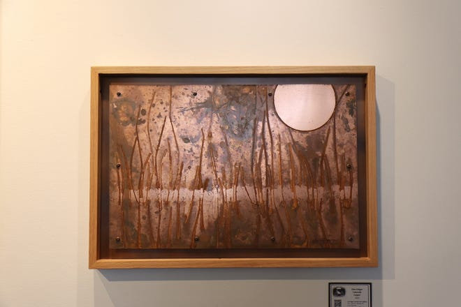"""For Glen Ediger's """"Environmental Exposure"""" at the Carriage Factory Gallery,  Ediger tapped on his inventor's background and farm roots — in his words creating a new artistic genre."""