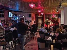 Members of Lakeland IRL participate in karaoke at the Pink Piano.