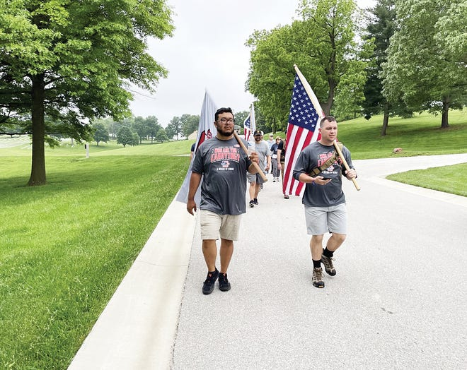 Shown are participants in the recent Carry The Load event at Leavenworth National Cemetery.