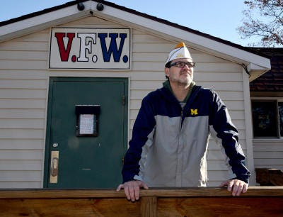 Bryan Gawecki , commander of Lambertville Post 9656, Veterans of Foreign Wars, stands outside the post home in 2020. He will give the main address at the post's annual Memorial Day service Monday. He is also junior vice commander of the state VFW's District 6 that consists of Monroe, Lenawee, Jackson, Washtenaw, Livingston and Ingram counties.