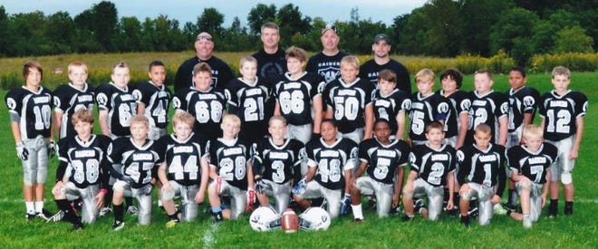 The 2015 Uptown Tire Raiders of the Frank Baker Football League in Canandaigua includes players such as Eric Platten, Elliott Morgan, James Delforte, Ryan Gavette and Jackson Nieman who won a 2021 Section V title with the Canandaigua Academy team.