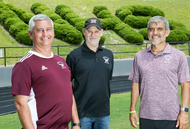 The Niceville girls soccer coaching staff of Michael Denton, Tim Brown and Jose Fernandez are the Girls Soccer Coaches of the Year.