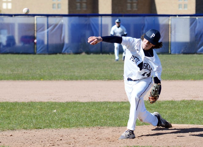 Petoskey's Owen DeGroot earned the win over TC Central Thursday, with three innings of work to settle a tie against the Trojans.