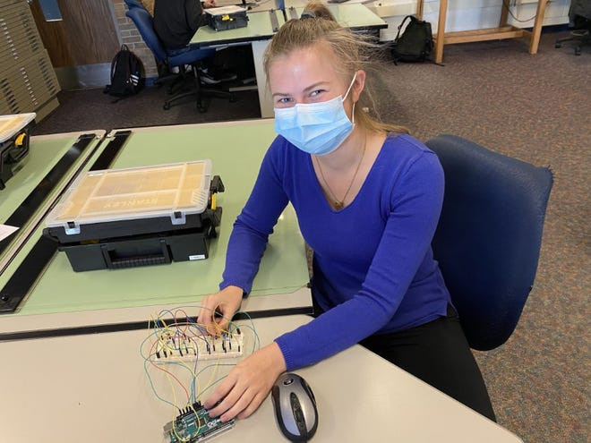 Amanda Feeley, Petoskey High School senior, received a 2021 Breaking Traditions Award from the Michigan Department of Education's Office of Career and Technical Education.