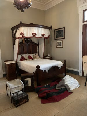 The nursery at Belmont Mansion: The enslaved woman who cared for the children, Frances, slept on blankets at the foot of the children's bed. (Photo: JAN TUCKWOOD)