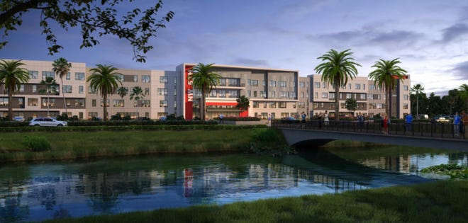 Liv on 5th, a proposed four-story, 546-bed apartment complex,positioned across the street from FAU in renderings, was in part intended to serve the university's growing student population.