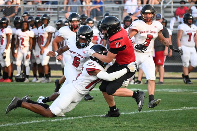 Creekside falls to Baker County 27-0 in lesson-learning spring football game.