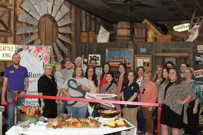 """The Stephenville Chamber of Commerce welcomed new member V6 Ranch Weddings and Events with a ribbon cutting on May 6. V6 Ranch Weddings & Events specializes in wedding and event planning along with day of coordination. Owner Megan Lutrick is passionate about """"weddings, planning events, and serving people,"""" and has been planning events for the past 10 years. V6 Ranch Weddings and Events is able to plan any and all events from weddings, birthday parties/showers, to company events. For more details, visit bit.ly/RC-V6Events."""