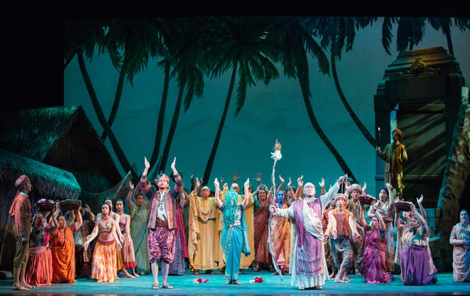 """A scene from the Sarasota Opera's 2013 production of Bizet's """"The Pearl Fishers."""""""