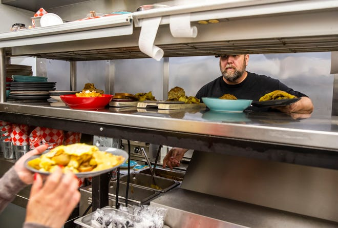 """""""It's starting to wear me pretty thin,"""" said chef Kevin Sullivan, the owner of The Barn, as he worked the line by himself Friday at the restaurant on Wabash Avenue in Springfield. Sullivan opened The Barn, a farm-to-fork restaurant, in May of 2020 during the COVID-19 pandemic with eight staff members, and a year later he's making do with a dishwasher and one full and one part-time wait staff as area restaurants struggle to find workers."""
