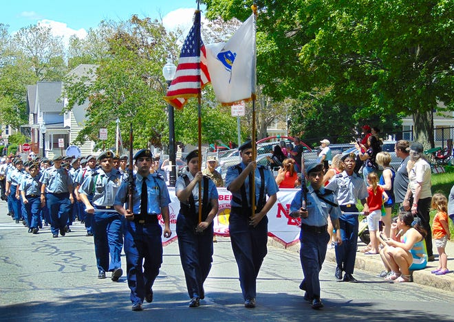 New Bedford High School JROTC cadets march in the city's Memorial Day Parade in 2019. They recently earned reaccreditation, receiving the highest program accreditation – Gold Star Honor Unit with Distinction. Established in1881, the JROTC program at NBHS is the longest continuously running program in the history of JROTC.
