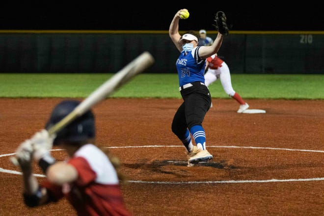 Washburn Rural senior Olivia Bruno was named the Centennial League player of the year after going 12-2 with 137 strikeouts and also hitting .563 with 11 home runs.