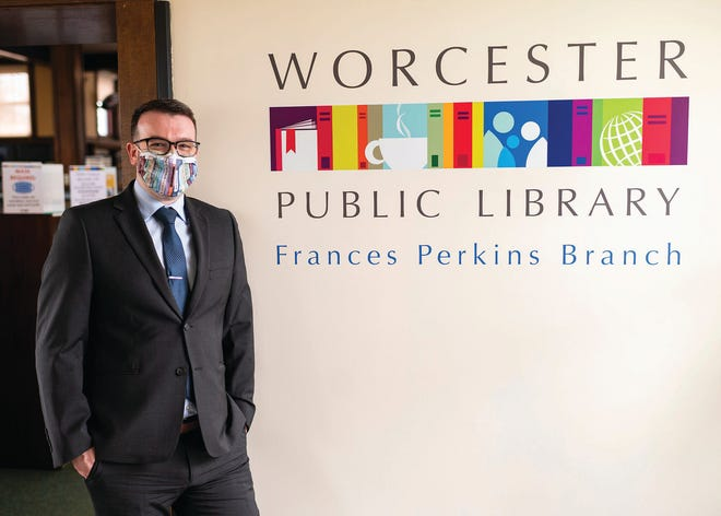 Jason L. Homer was named executive director of the Worcester Public Library in December.