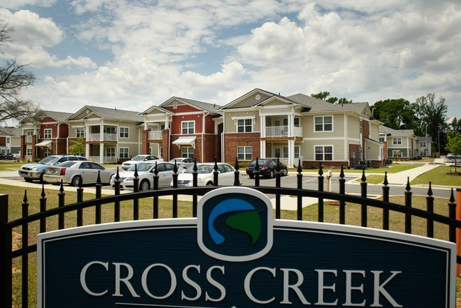 Cross Creek Pointe apartment complex off of Grove Street was built on the site of the old Grove View Terrace public housing complex.