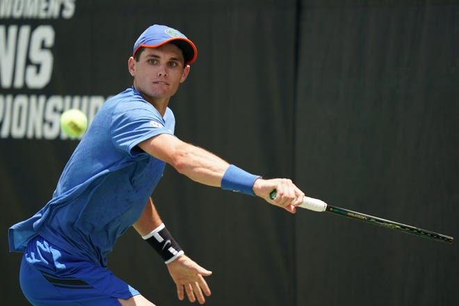 Florida's Sam Riffice won the NCAA Men's Singles Tennis Tournament on Friday at the USTA National Campus in Orlando.